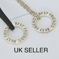 Best Friends Necklace,Silver colour Chain or leather,Friendship Charm, BFF, GIFT
