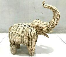 Elephant Statue Traditional Cane Elephant Home Decor Sculpture Antique Cane Art