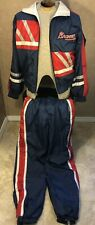 Atlanta Braves Vintage Jumpsuit Windbreaker Jacket Pants MLB Baseball Mens Sz M