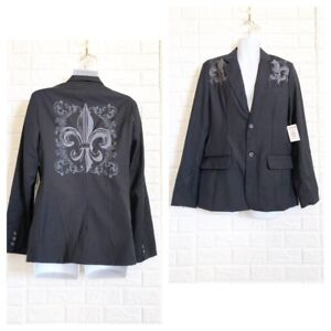 Pop Icon clothing pinstripe embroidered blazer