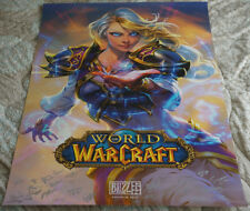 Blizzcon 2017 Official World of Warcraft WoW Jaina Proudmoore Signed Poster