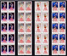 SASHA COHEN 2010 OLYMPIC FIGURE SKATING SET OF 4 VIGNETTE STAMPS