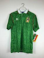 Retro MEXICO 1994 *BNWT* Home Football Shirt (S+M) Soccer Jersey Umbro World Cup