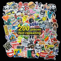 AU 200 Random Vinyl Decal Graffiti Sticker Bomb Laptop Waterproof Skate Stickers