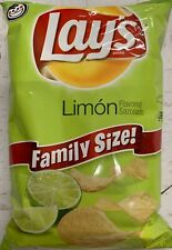 NEW LAYS FAMILY SIZE LIMON FLAVORED POTATO CHIPS 9.5 OZ BAG FREE WORLD SHIPPING