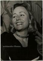 Denise Vernac, widow of Erich von Stroheim, Original-Photo from 1960