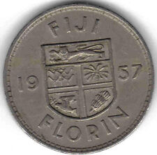 FIJI: 6 PC CIRCULATED VINTAGE PRE-DECIMAL COIN SET, 1/2 PENNY TO FLORIN