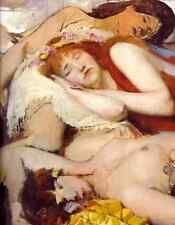 A3 Box Canvas Exhausted Maenides After The Dance Lawrence Alma Tadema