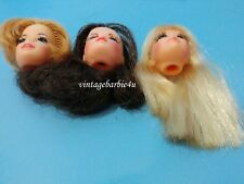 Vintage Barbie TNT Mod Head Doll Lot Blonde Brunette P.J. PJ Marlo Flip Stacey
