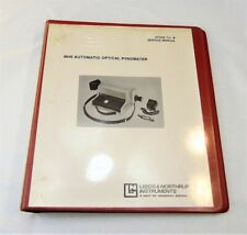 Leeds & Northrup 8646 Automatic Optical Pyrometer Service Manual 1982-83 Edition