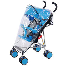 Universal Buggy Pushchair Stroller Carrycot Bassinet Transparent Rain Cover Baby