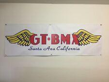 old school BMX BIKE BANNER GT SANTA ANA WINGS 6FT X 2FT WHITE mancave