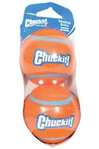"Petmate 74023 2.5"" Medium Orange Chuckit! Tennis Ball (2Balls)"
