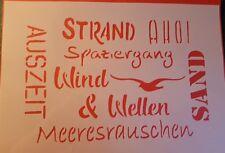 1742 Schablonen Schriften Wandtattoos Vintage Stanzschablonen Shabby Stencil