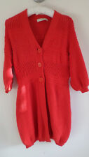 STELLA McCARTNEY red cotton cardigan, size 38, used