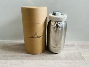 Waterdrop Microdrink Steel Small Silver Mirror Tea Travel Cup Bottle 400ml ~ NEW