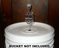 BUCKET LID DRILLED & GROMMETED WITH AIRLOCK FITS MOST 5, 6, & 6.5 GAL FERMENTERS