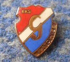 GWARDIA KATOWICE POLAND FOOTBALL FUSSBALL SPEEDWAY JUDO 1970's ENAMEL PIN BADGE