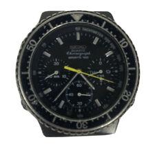 1980s Vintage Seiko Quartz Sports 100 Chronograph 7A38-7080