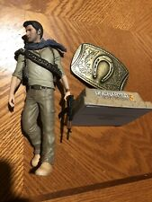 "Uncharted 3 Drake's Deception 2011 NATHAN DRAKE 7"" Figure And belt buckle"