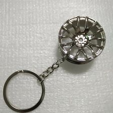 New Hot SILVER Creative Wheel Hub Rim Model Keychain Car Key Chain Cool Gift