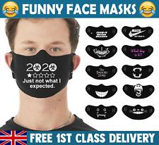 Drôle Masque Visage Bouche Housse Lavable Réutilisable Protection Adult UK Stock