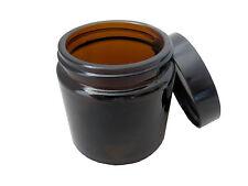 Glass Jar Amber Medical Herb/Spice/Stash Jar 4 oz.