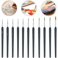 11x extra fin détail peinture pinceaux Art miniature peinture modèle Maker PS