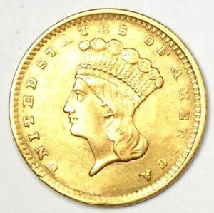 1856 Indian Gold Dollar G$1 - Choice AU / UNC MS Detail - Rare Coin!