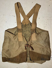 Vtg Oil Tin Cloth Game Bag Utility Vest Hunting Filson Redhead? Straps Leather