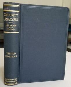 1951.Security Analysis by Graham and Dodd, Third Edition. Nice condition