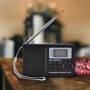 AM FM SW MW LW Digital Display MultiBand World Radio Alarm Clock+Earphone Travel