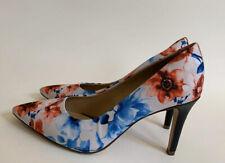 Antonio Melani MCBETH Floral White Blue Red Black Pumps Heels Shoes Size 8.5 M