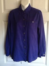 CHICO'S DESIGN Purple Suede-Like Blouse - Chico's Size 0/XS(4)