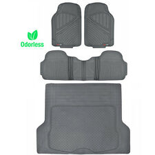 All Weather Floor Mat for Car SUV MotorTrend 100% HD Odorless Trunk Liner Gray