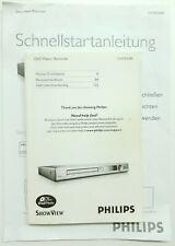 Original Bedienungsanleitung für Philips DVDR3380 BDA / Manual
