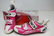 Sidi Women's T-4 Air Cycling Road Bike Shoes 40 8 Fuchsia White Tri Race Carbon