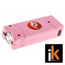CH-10 Cheetah Rechargeable Mini Stun Gun With Flashlight in Pink, NIB
