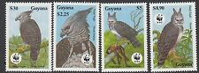 BIRDS :1990 GUYANA Harpy Eagle set SG2672-5 never-hinged mint