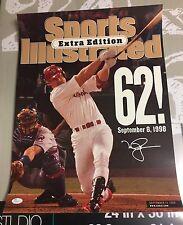 Mark McGwire Signed 16x20 Sports Illustrated 62nd Homerun 1998 Auto JSA