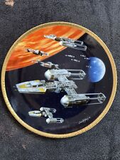 More details for starwars y-wing fighter hamilton certified ltd ed plate by sonia hillios #50