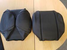 Jaguar E-Type Series 2/3 Headrest Covers Black PAIR