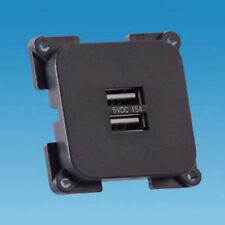 TWIN USB charging port socket C-LINE MOTORHOME BOAT CARAVAN CAMPER 12-24v 2.1A
