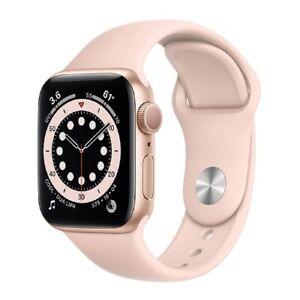 Apple Watch Series 6 GPS 40mm Gold Aluminiumgehäuse Sandrosa Sportarmband