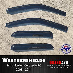 Premium Weathershields Tinted Window Visors for Holden Colorado RC 2008 - 2011
