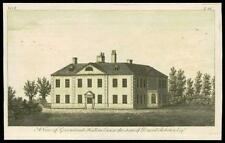 c1780 ESSEX - Small Antique Engraving of GREENSTEAD HALL HALSTEAD (26)