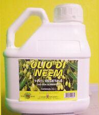 OLIO DI NEEM  REPELLENTE NATURALE ANTI ZANZARE BIO 100% VEGETALE 3 litri