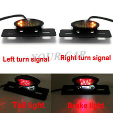 Motorcycle LED Brake Tail Turn Signal Light Lamp For Custom Bike Cruiser Chopper