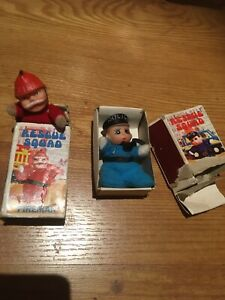 Vintage Baby William matchbox doll - Rescue Squad Fireman, And policeman