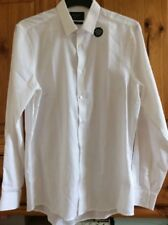 "NEW MEN'S SHIRT LONG SLEEVE SLIM FIT TAILORING BY F&F CHEST 40"" COLLAR 15.5"""